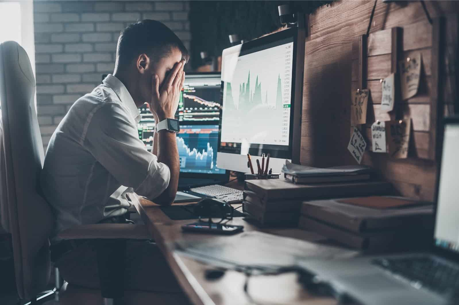 stressed developer due to setbacks