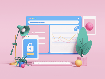 3D illustrations and icons